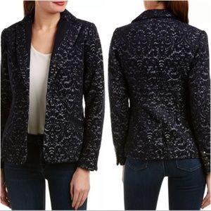 CAbi 109 Paisley Jacquard Wool blend Jacket Blazer